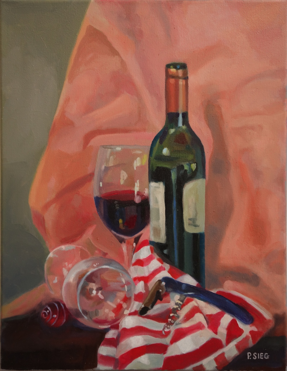 "Uncorked   18"" x 14"", oil on canvas For sale,  contact the artist"