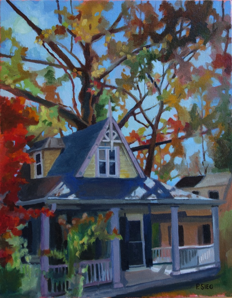 "Early Morning, Late October  16"" x 20"", oil on canvas For sale,  contact the artist   First prize winner, Rockville Art League, December, 2015"
