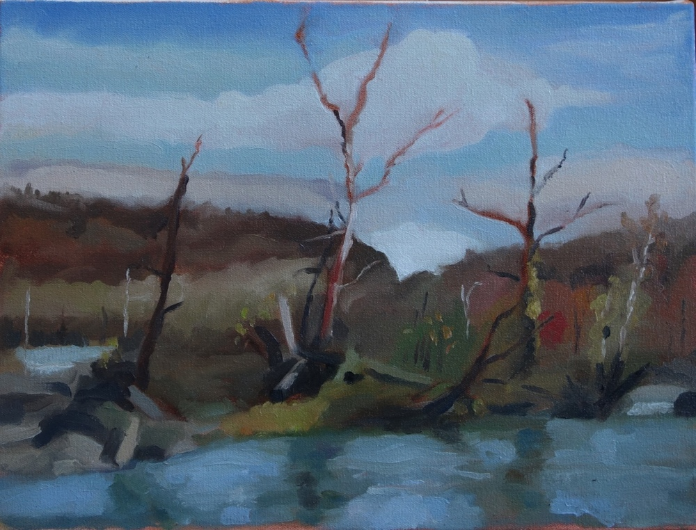 "Cool River  12"" x 16"", oil on canvas For sale,  contact the artist"