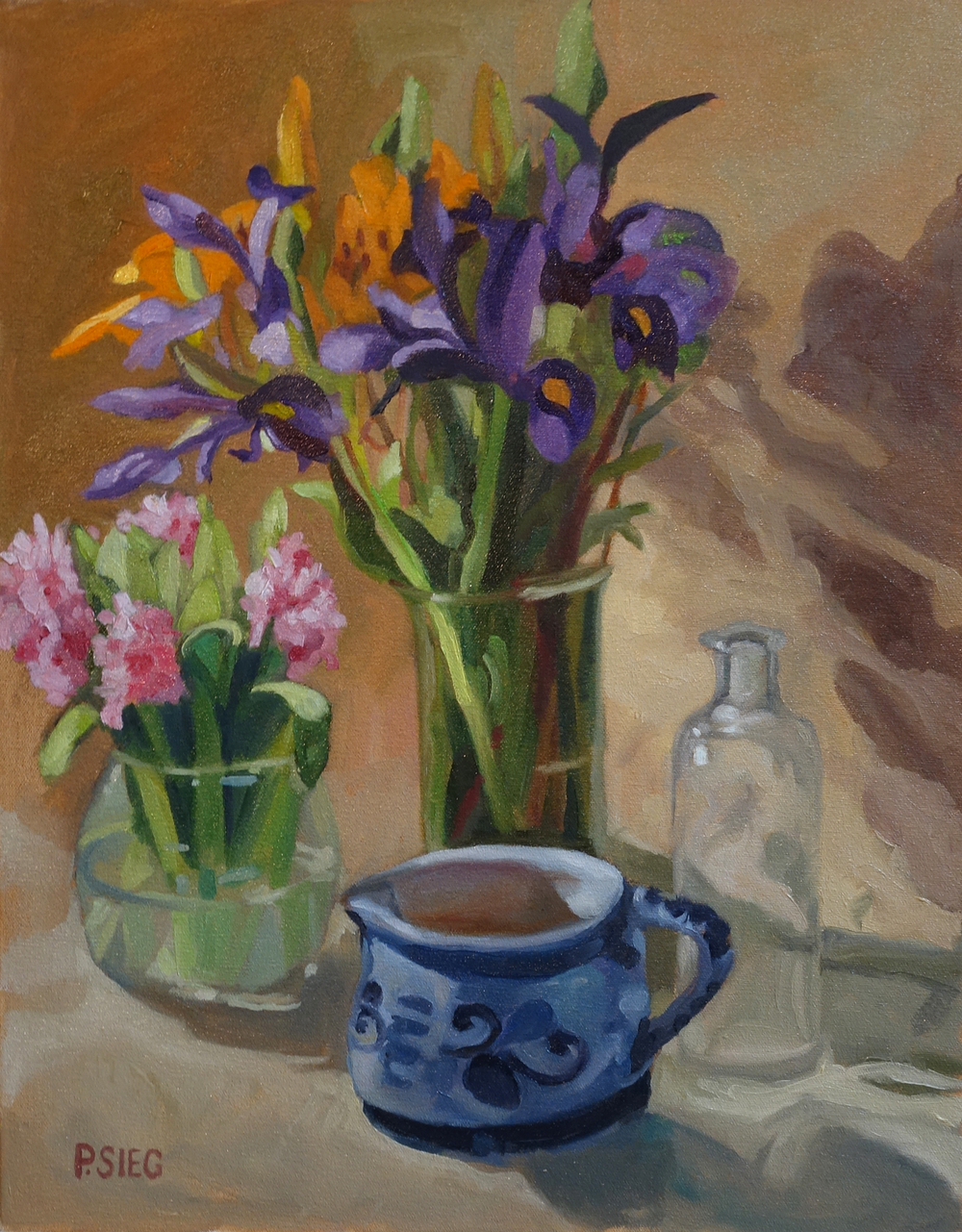 "Spring Arrangement  16"" x 20"", oil on canvas Fpr sale,  contact the artist"