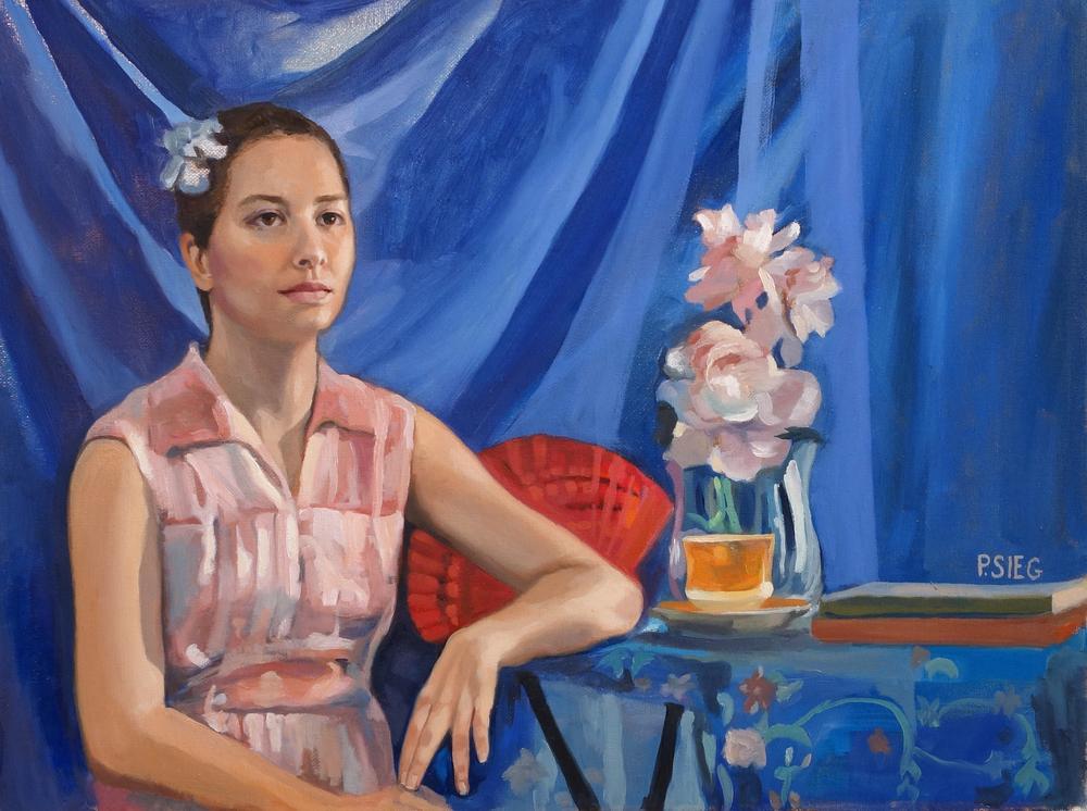 """Seniorita   18"""" x 24"""", oil on canvas  Private collection"""