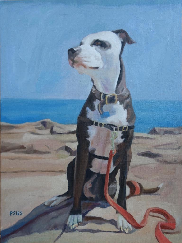"JR  18"" x 24"", oil on canvas Commission"