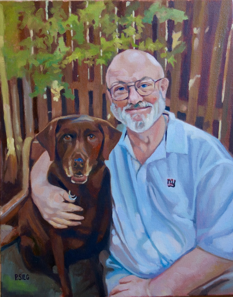 """Best Friends  16"""" x 20"""", oil on canvas Commission"""