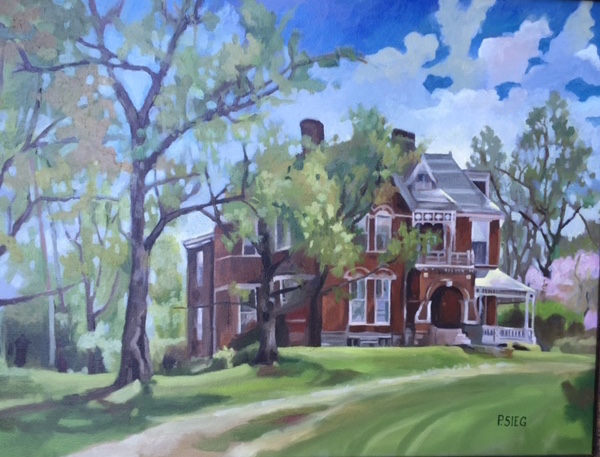"Smith Family Home  18"" x 24"", oil on canvas Commission"
