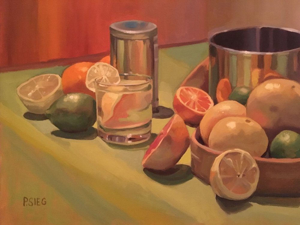 "Juicy Fruit   16"" x 20"", oil on canvas For sale,  contact the artist"