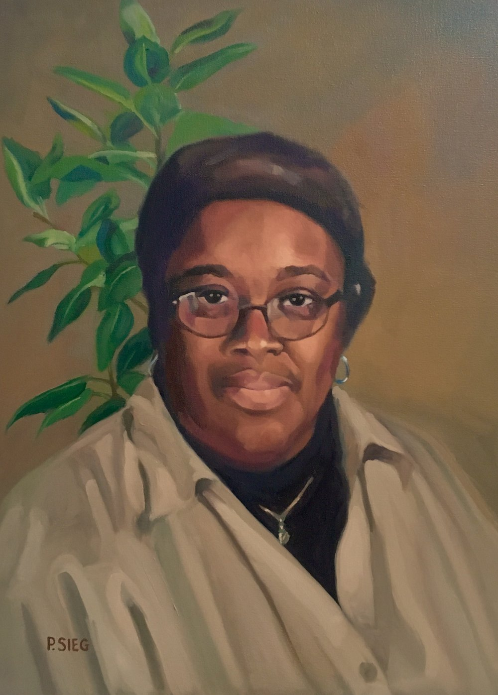 """Ms. Tahira Lee  18"""" x 24"""", oil on canvas Commissioned portrait, private collection"""