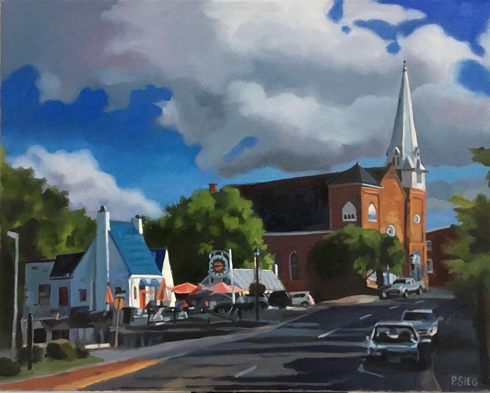 "Good Eats, Lexington  16"" x 20"", oil on canvas For sale,  contact the artist"