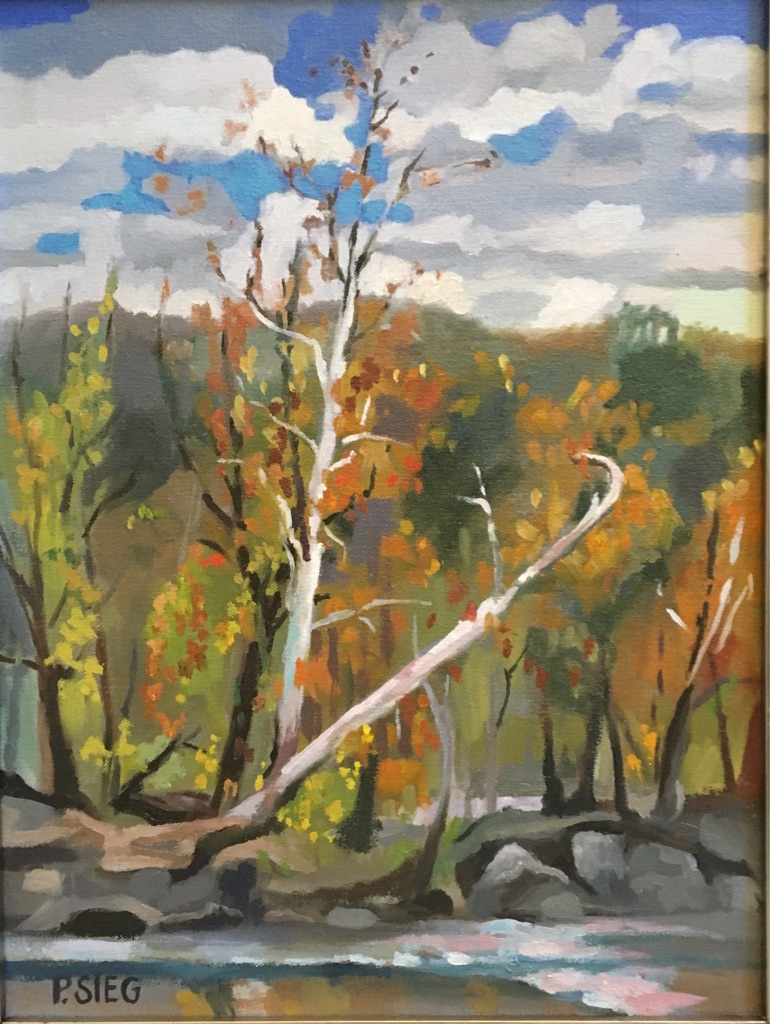 "Fall AT The River  12"" x 16"", oil on canvas For sale,  contact the artist"