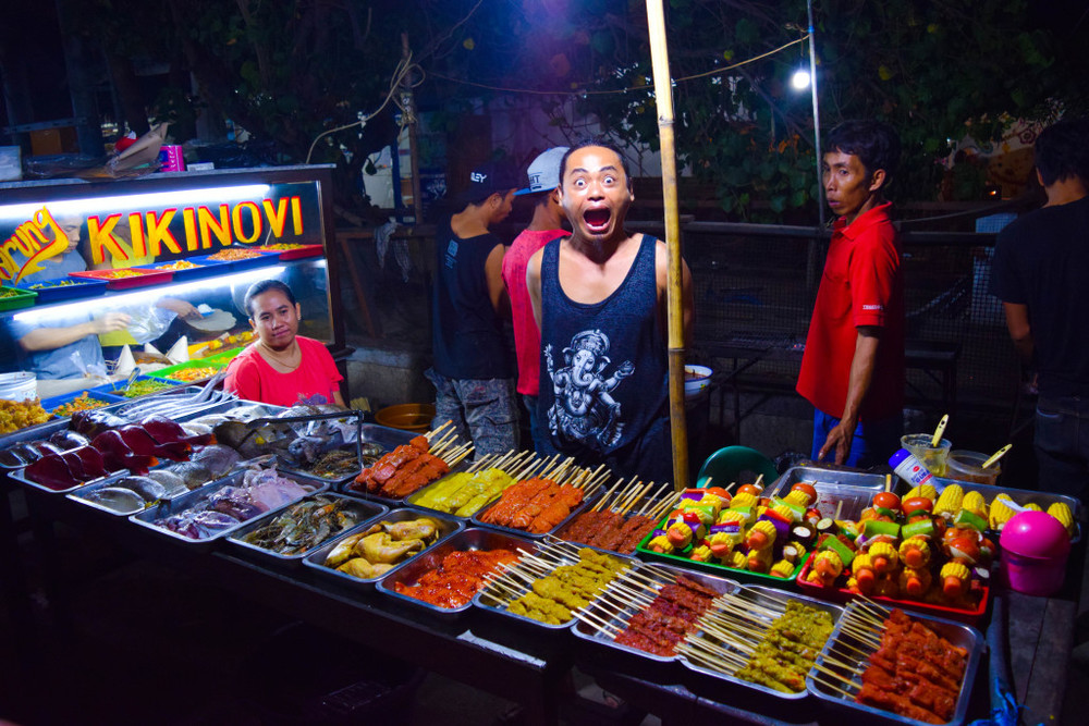 The night market's food is quick, cheap and delicious!