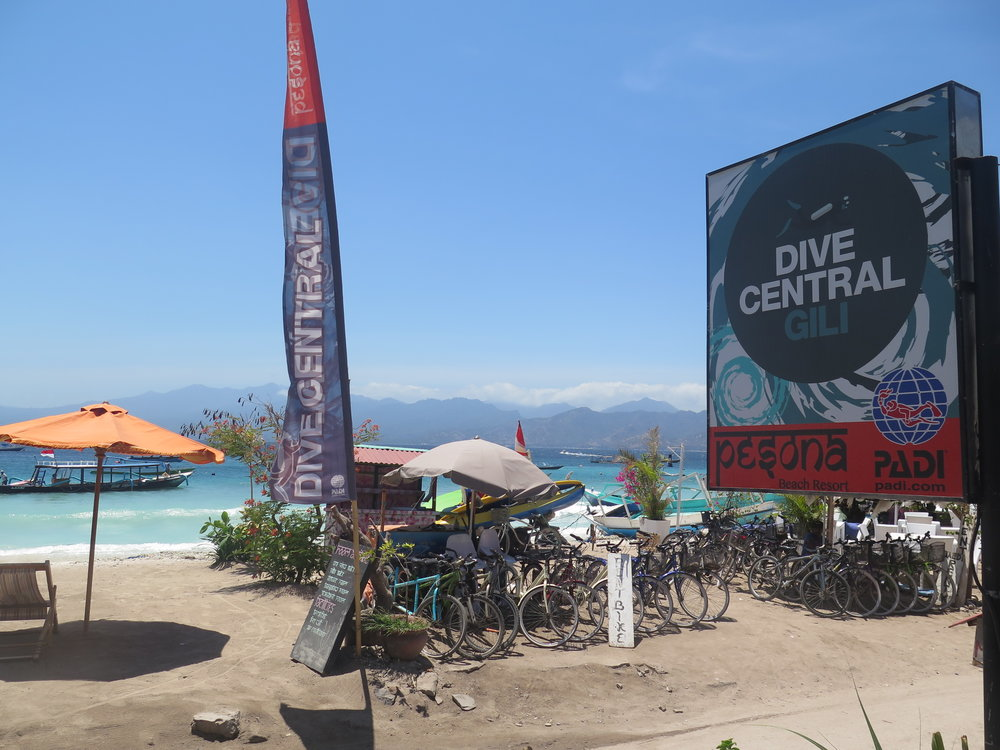 """Dive Central Gili front view"" Photo by Steve Willard"