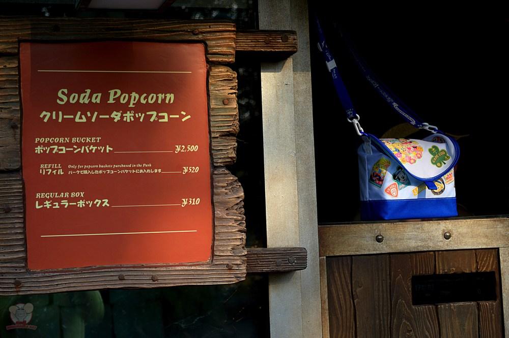 Soda Popcorn signage