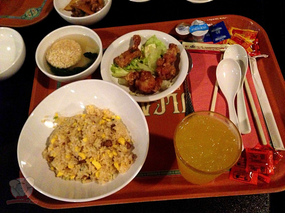 Fried Rice, Fried Chicken with Soy Vinegar and Soup