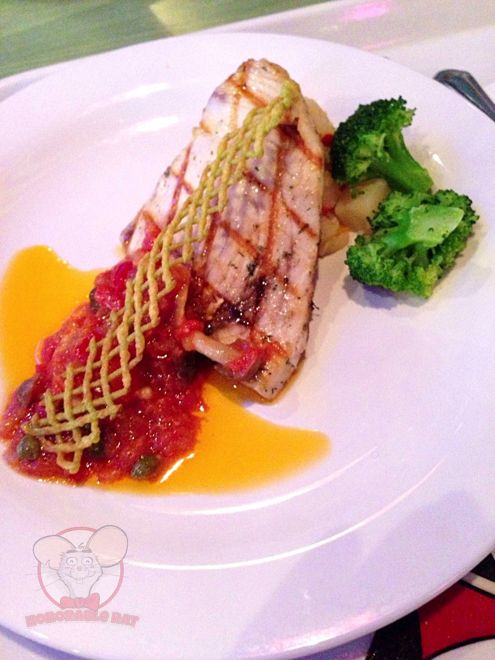 Grilled Swordfish at the Queen of Hearts Banquet Hall