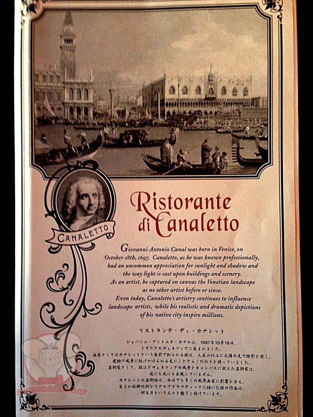 Ristorante Di Canaletto's Menu