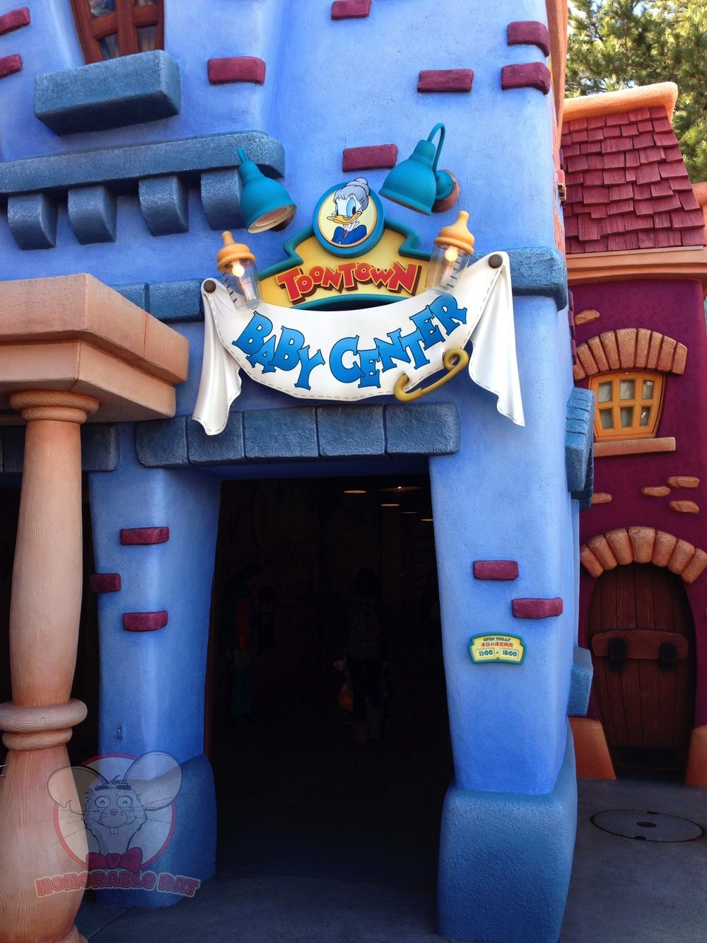 Toontown's Baby Care Center entrance.