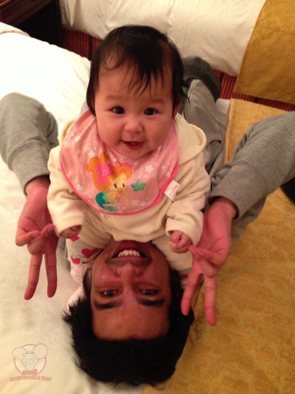 Little Mahina and I after changing her diapers. One happy father and daughter team.