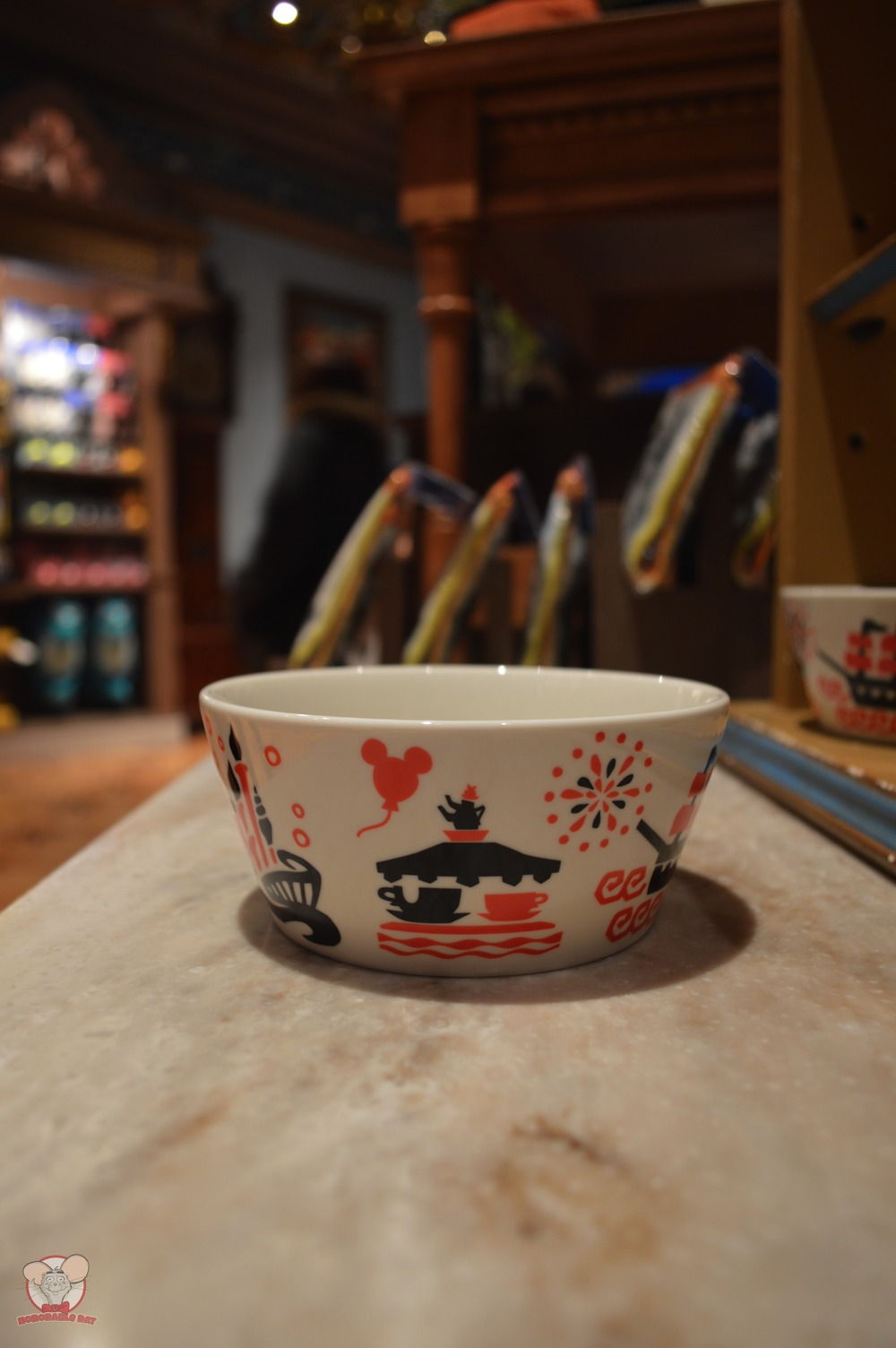 Tokyo Disney Resort Red Bowl (Back)