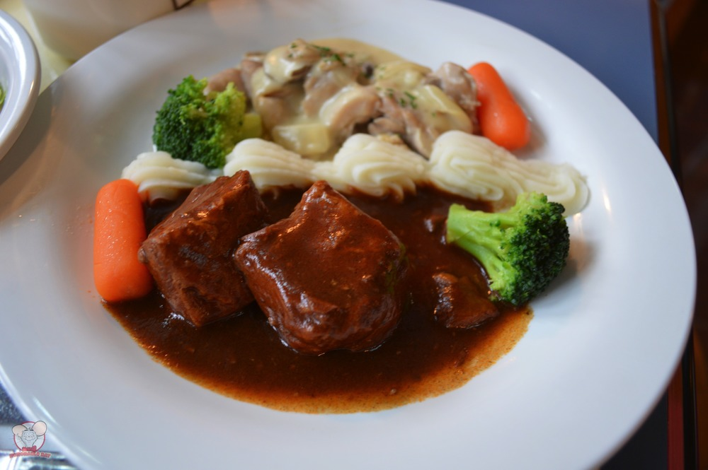 Braised Beef & Chicken in Cream Sauce