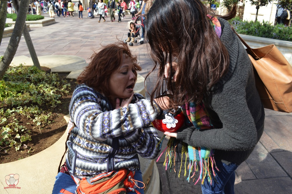 Nadia feeding Mummy