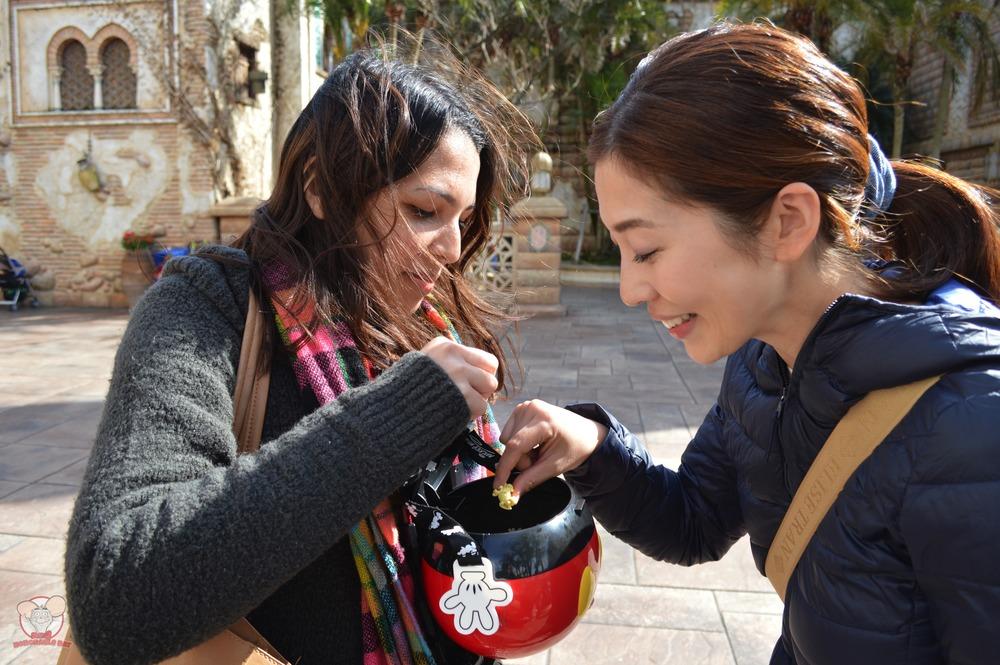 Nadia feeding Wife-chan