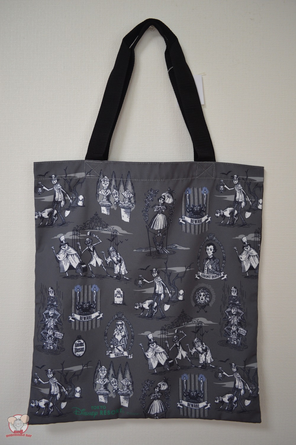 Limited Edition Haunted Mansion Tote Bag (Front)