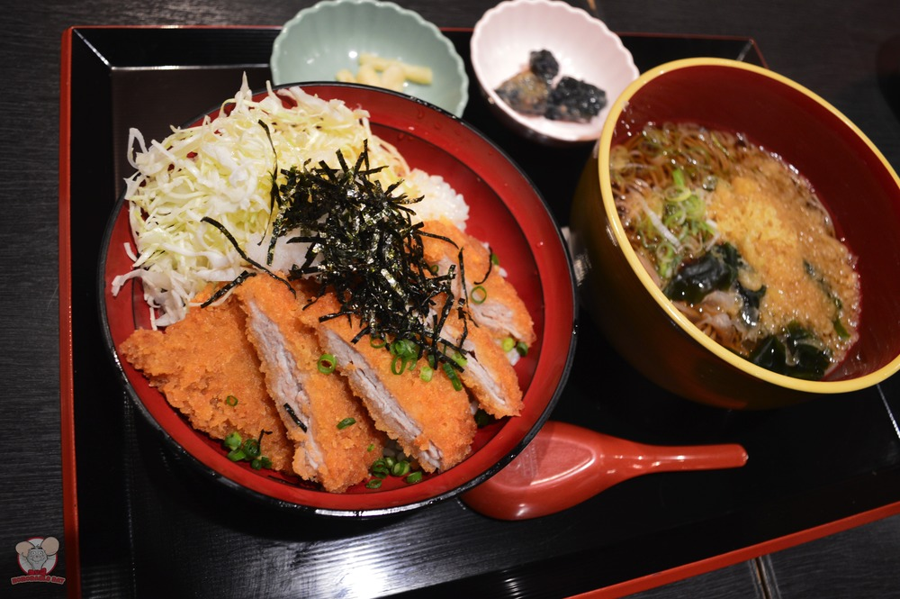Pork Cutlet with Rice and Hot Soba Lunch Set