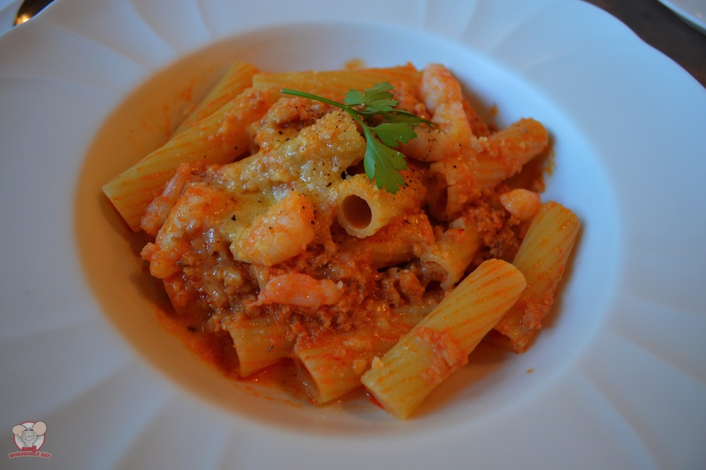 Rigatoni with Shrimp Bell Pepper Sauce