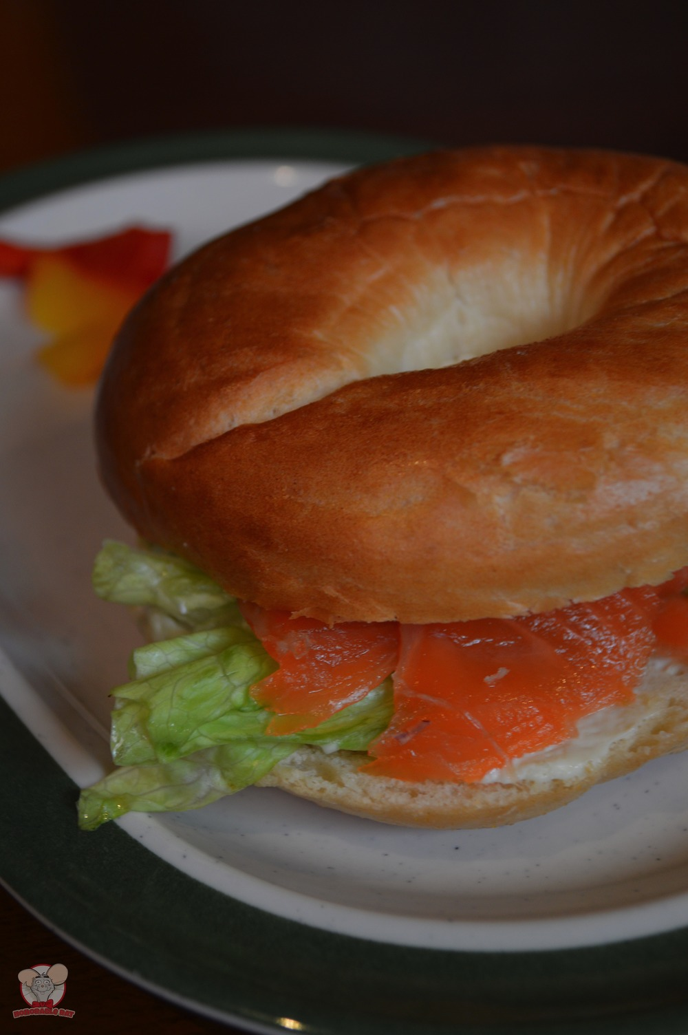 Shrimp & Salmon Trout on Soft Bagel