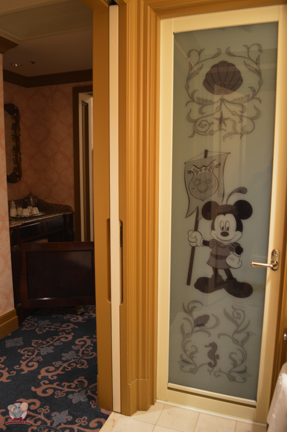 Mickey on the bathroom door