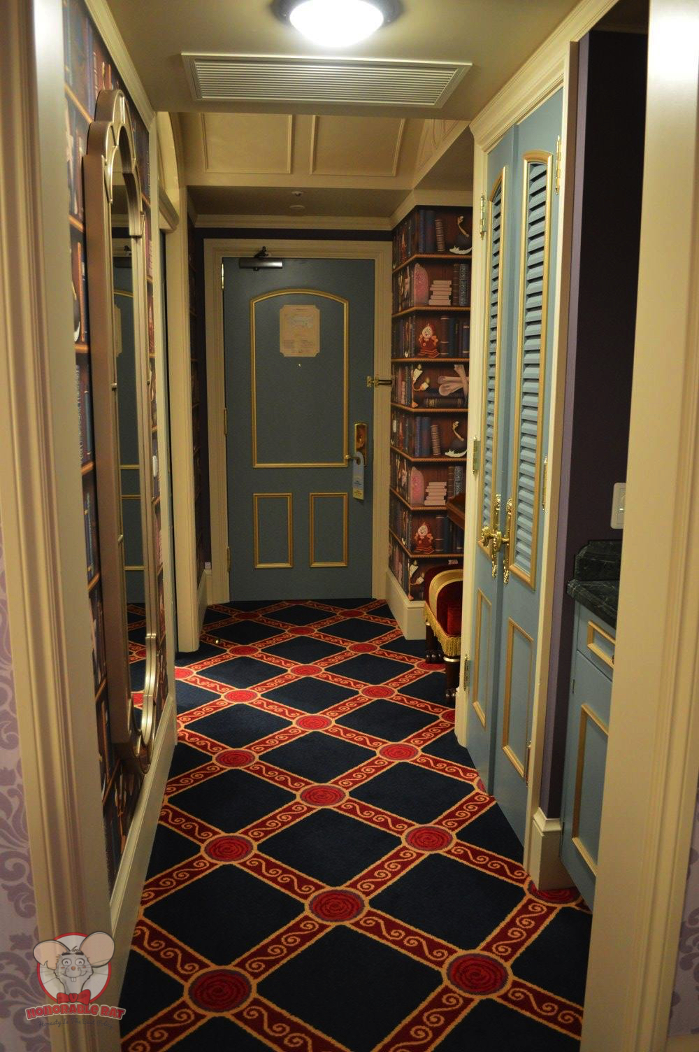 The entrance of this room