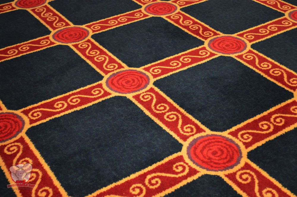 Beautifully designed carpet to keep with the theming of the room
