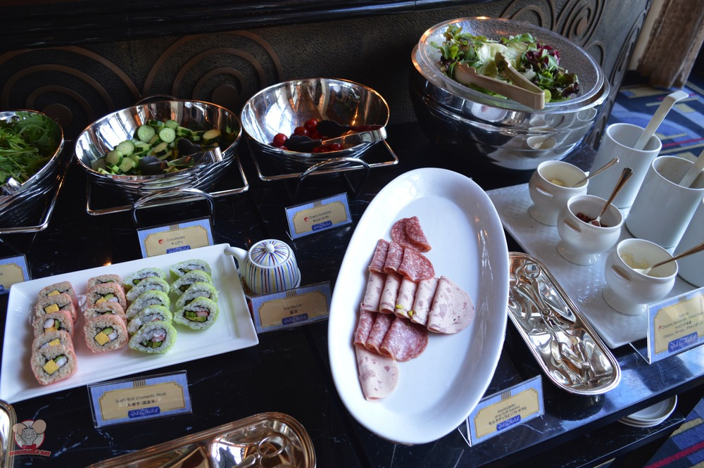 Sushi, salad and salami
