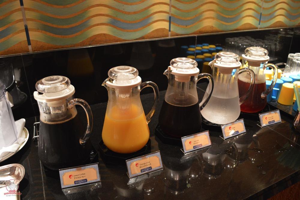 Coffee, tea and juice
