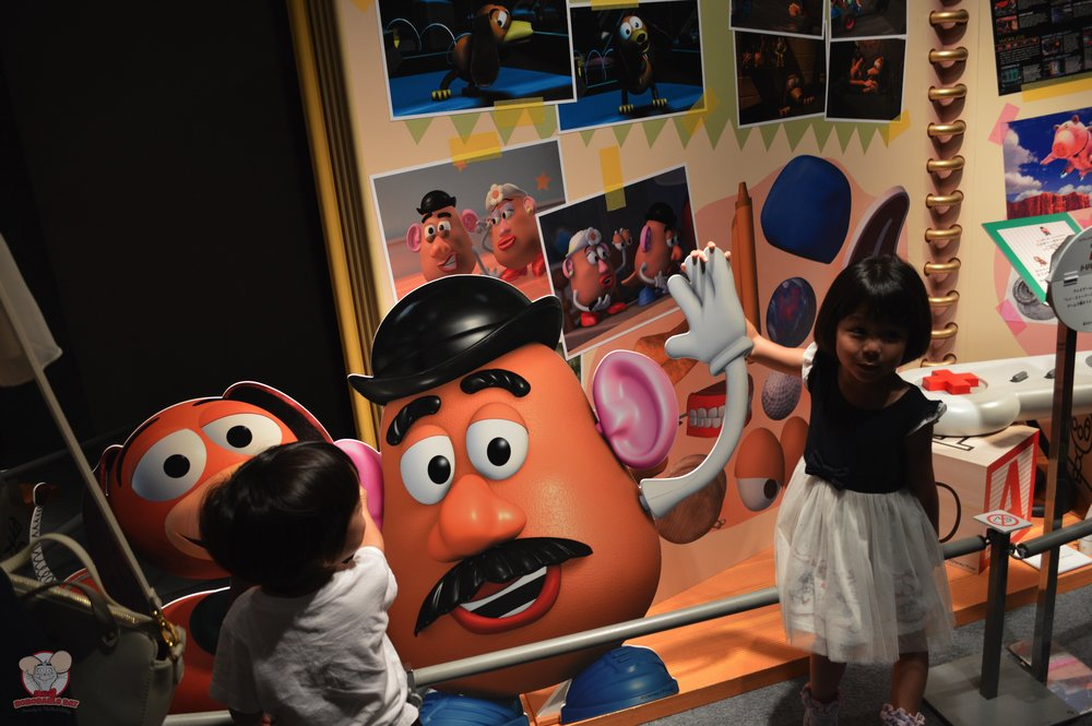 Kids with Mr Potato Head