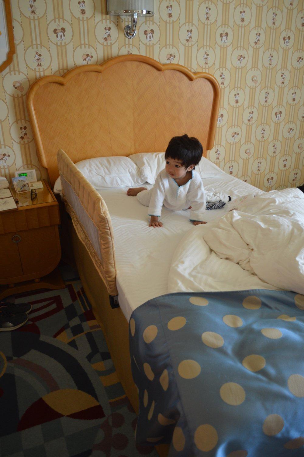 Baby Haku wakes up from his slumber in Disney Ambassador Hotel