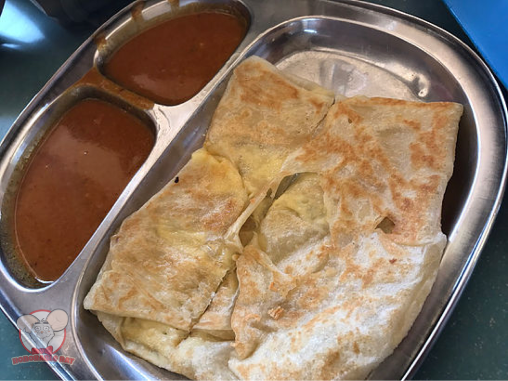 Prata with curry