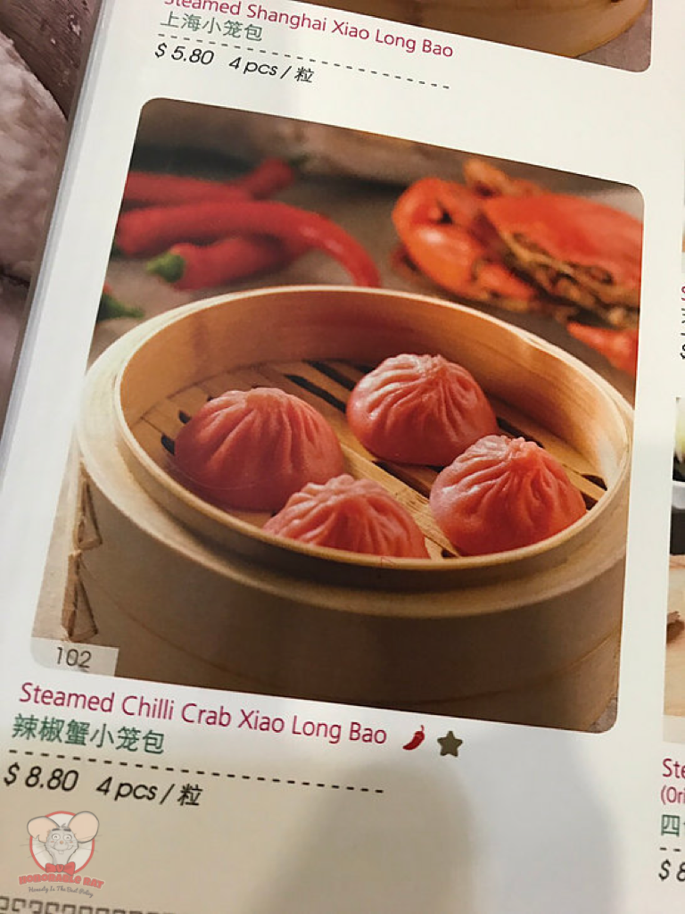 Steamed Chili Crab Xiao Long Bao Menu