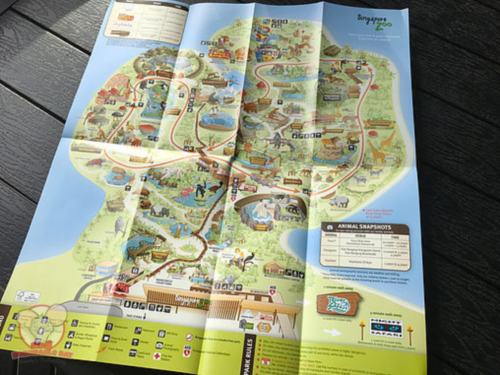 Grab that park map first thing after arriving!
