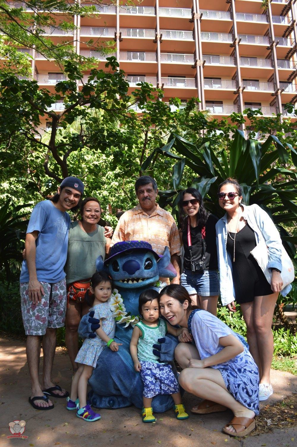 Family picture with Stitch