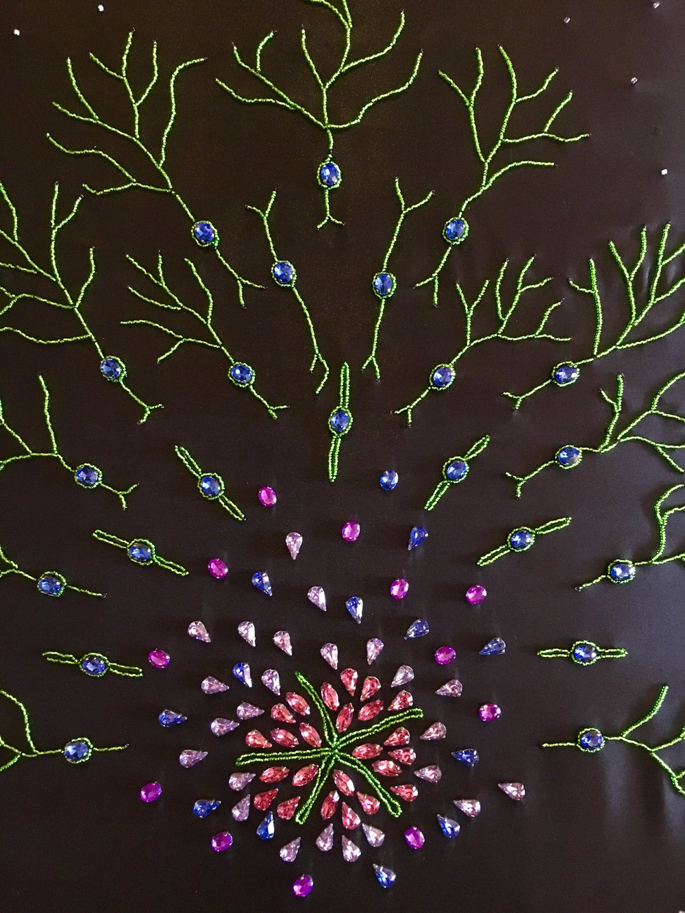 Sunrise by Yana Zorina, 2018, beads on silk