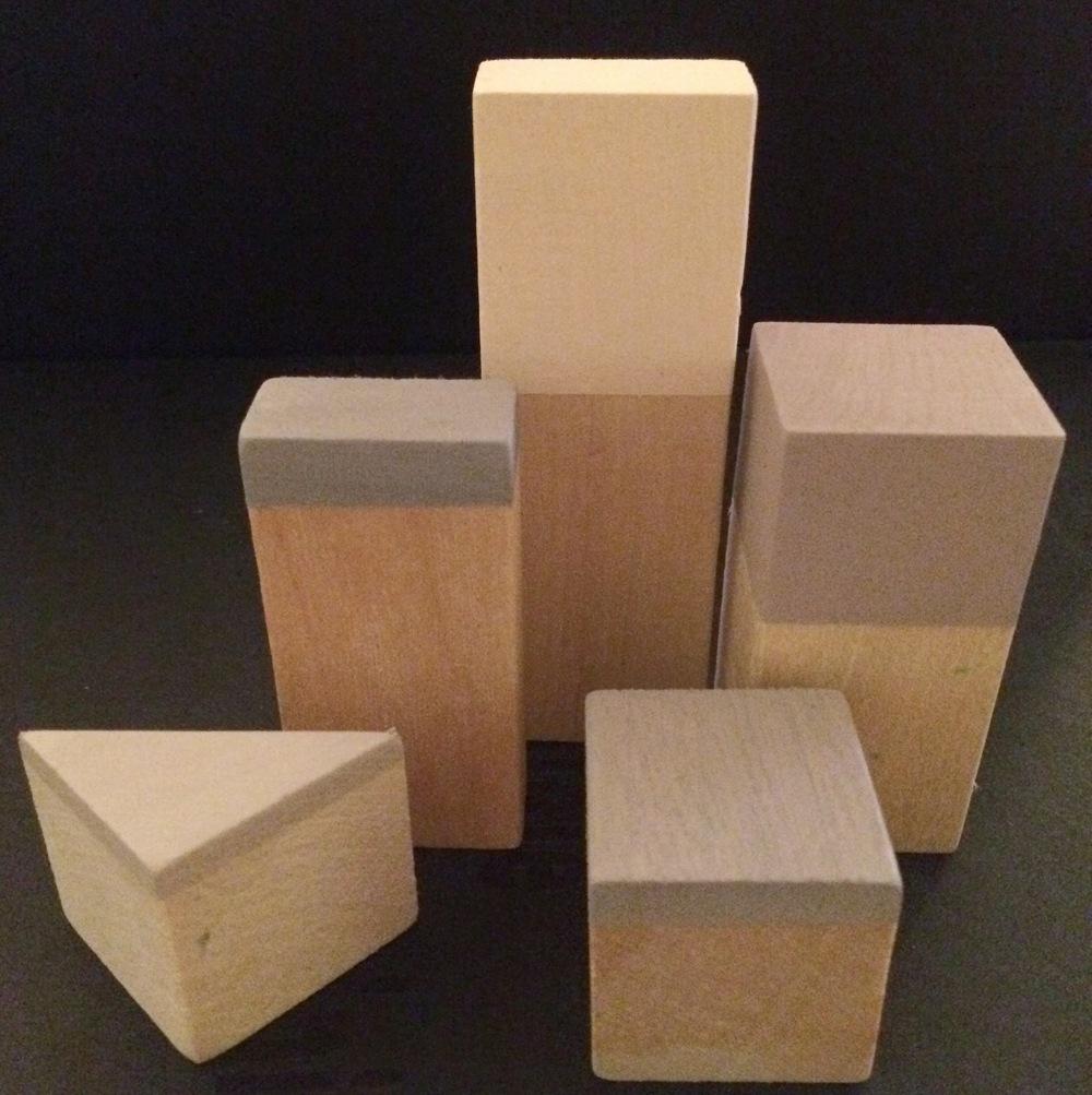 Wooden Blocks In The Nude Hangers