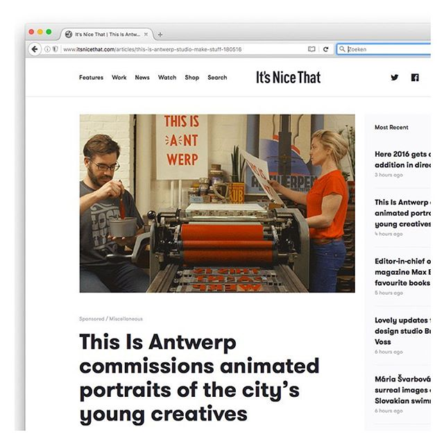 we made a series of animated gifs for #thisisantwerp...now on @itsnicethat