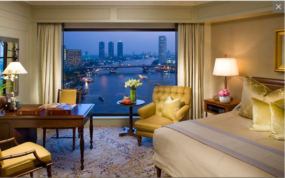 Make sure you ask for a room with a view of the river.