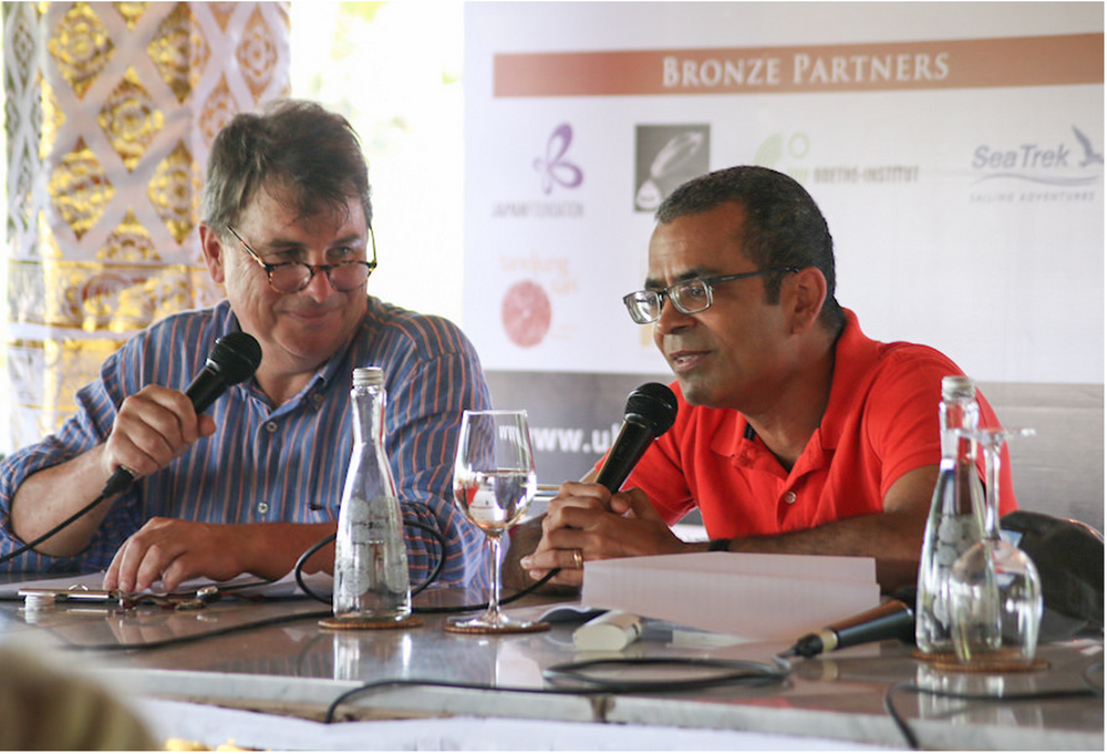 My favourite session from Ubud Writers and Readers Festival 2014: Akhil Sharma in conversation with lovely Michael Cathcart, broadcast on ABC Radio National's Books and Arts Daily. You must listen to it here