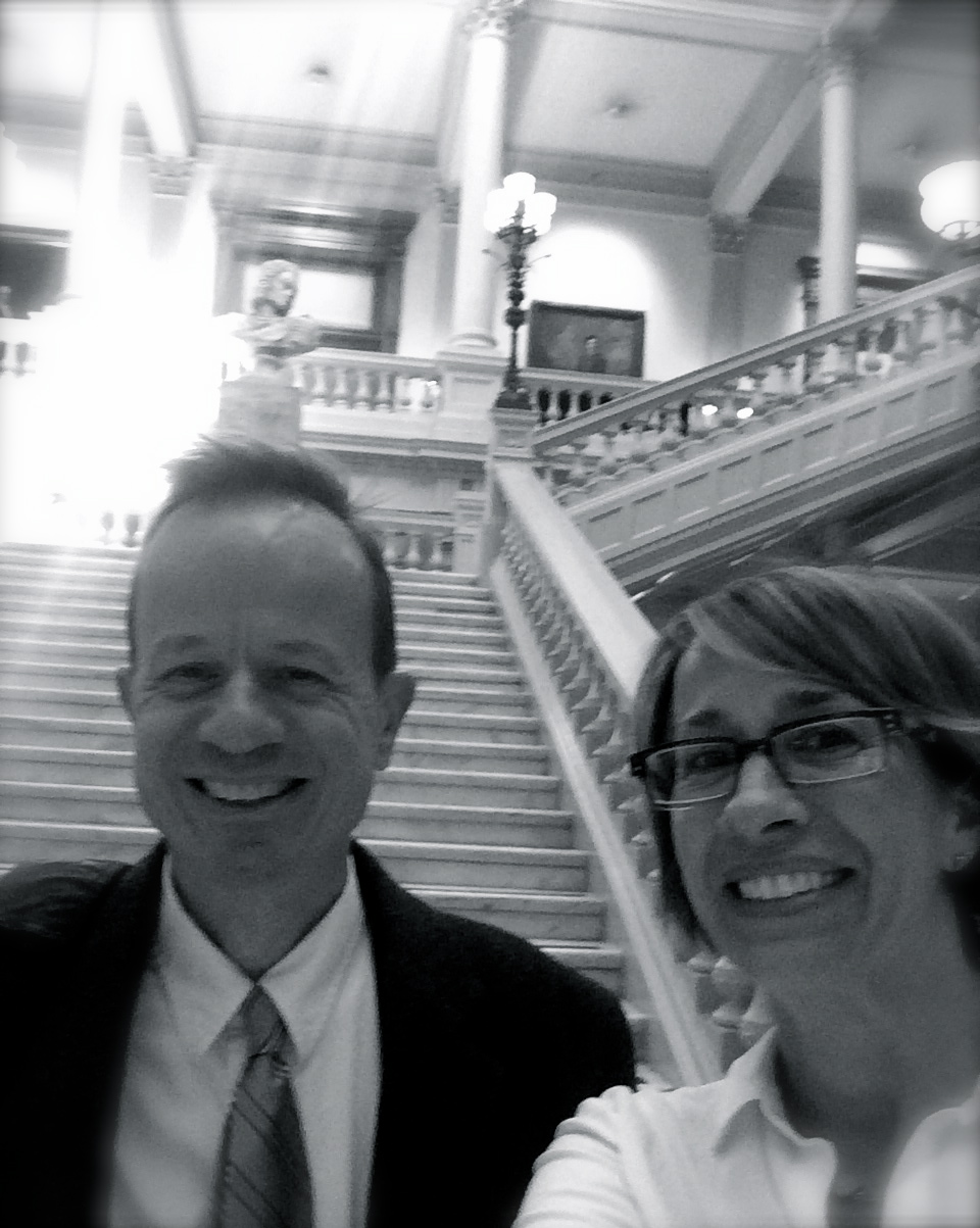 Bill and Sarah at Georgia State Capital