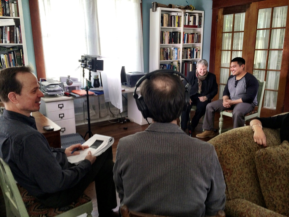 Hal Jacobs films Quang and Senator Orrock