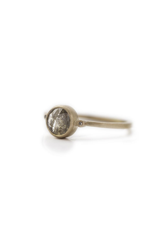Rose cut diamond slice ring in rose gold,£845