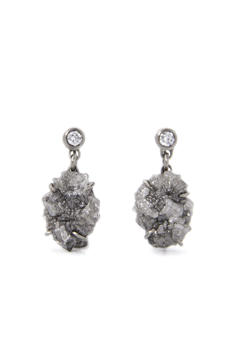 Diamond crystal drops in white gold, £2800