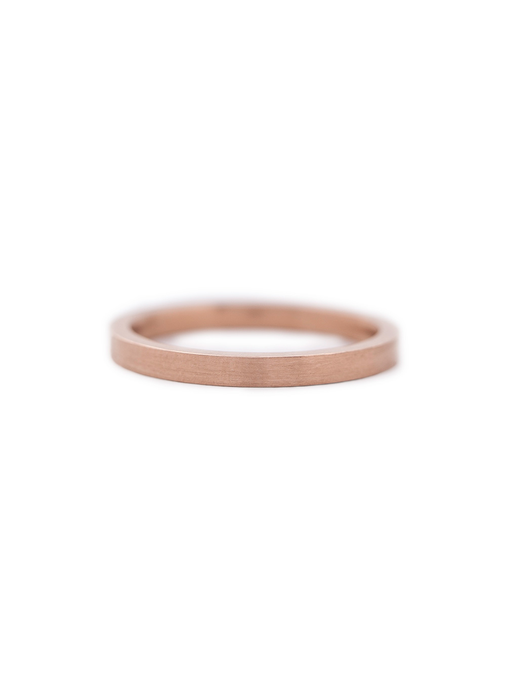 Rose gold fine band, £660