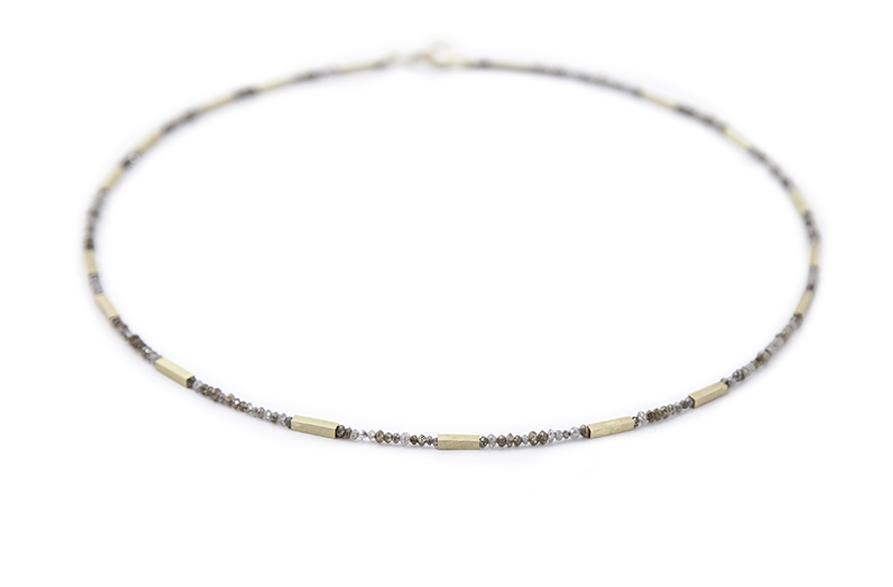 Mink &cognac diamond necklace,£4600